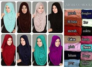 Hijab Jilbab Syari Murah Arabian Hoodie (Versi Premium)