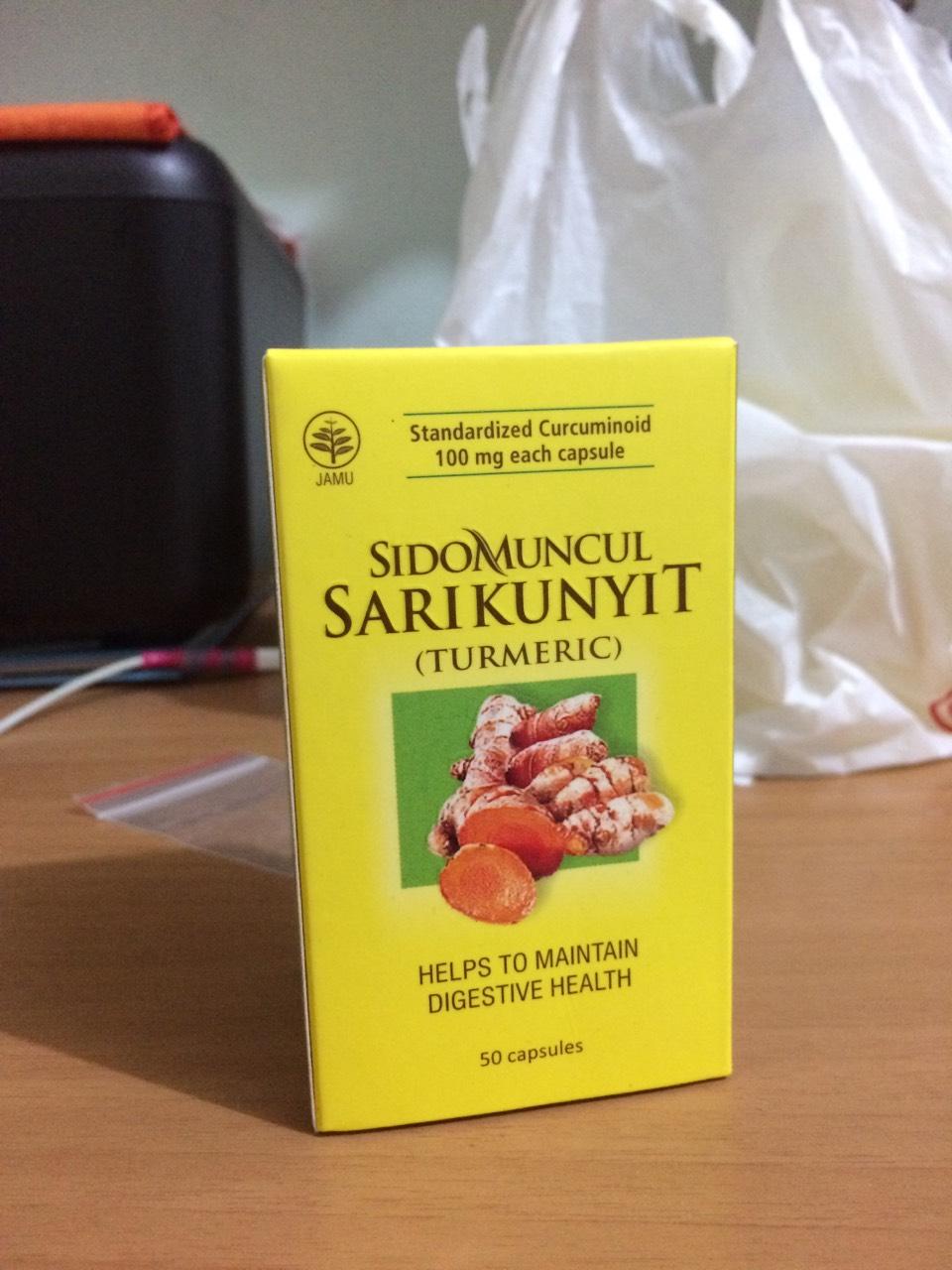 Sidomuncul Sari Kunyit 50 Kapsul Kuning Review Produk Harga Putih