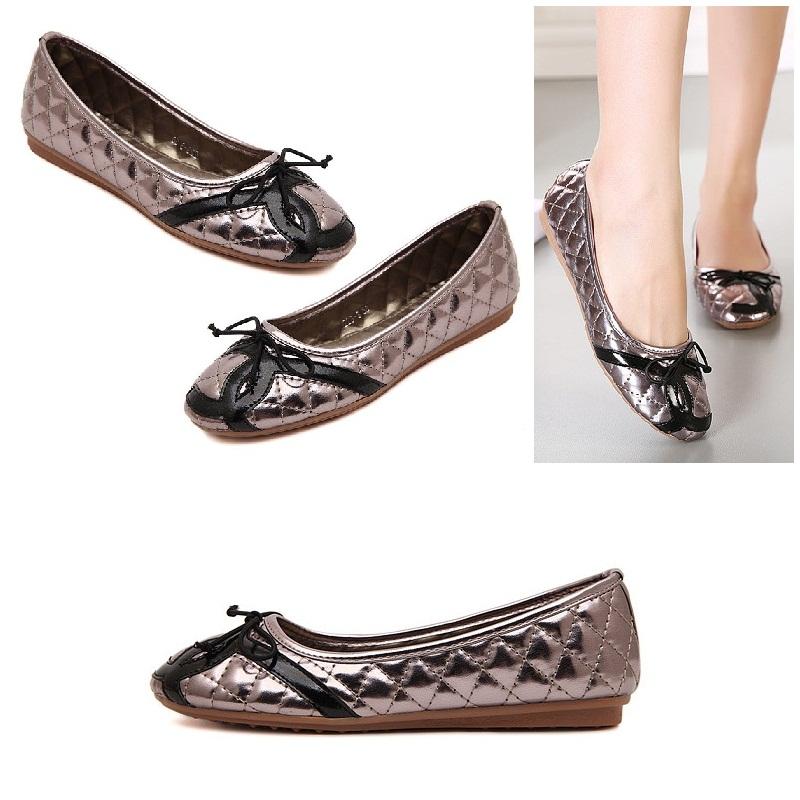 Jual sepatu batam import grey flat (sepatu wanita 97f118c312