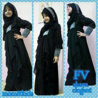 Abaya Pesta Anak (Gamis Syar'i, hijab, busana muslimah, gamis arab)