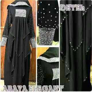 Abaya Pesta (Gamis Syar'i, hijab, busana muslimah, gamis arab)