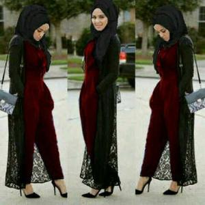 Jumpsuit Modern Hijab (maroon, tosca, pink)
