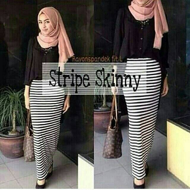 stripe skiny grosir hijab