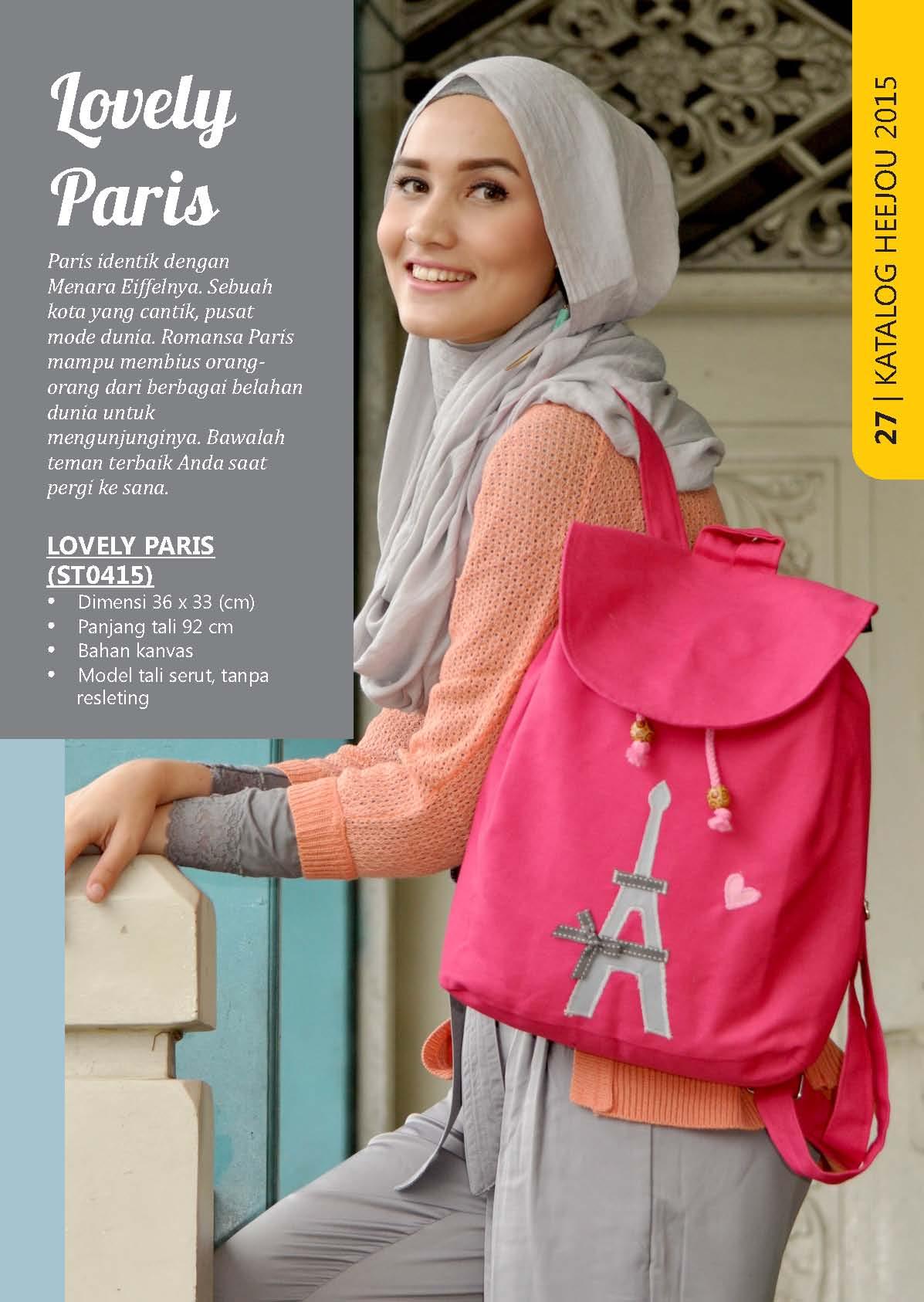 Jual Tas Ransel Heejou Lovely Paris - Rumah Tas Etnik  37cc551002