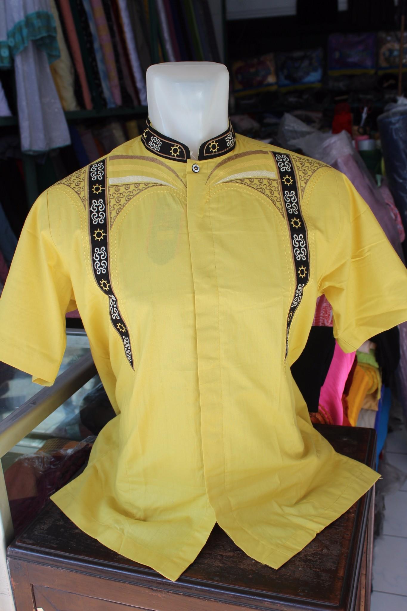 Baju Koko Pria Busana Muslim Oml156 Daftar Harga Terkini Lengan Panjang Kafa Katun Minyak Jual Kode Ad 68 Kuning Esquina Collection