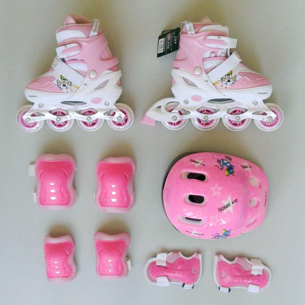 Jual 1 Set Sepatu Roda Lucu Untuk Anak Karakter Kartun Warna Pink Iconindo Acc Tokopedia