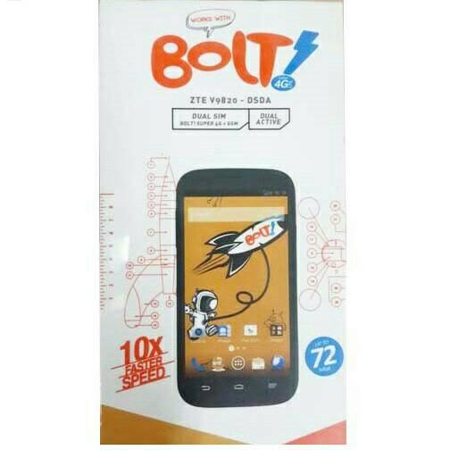 BOLT! Powerphone ZTE V9820 4G LTE + Perdana Bolt Termurah