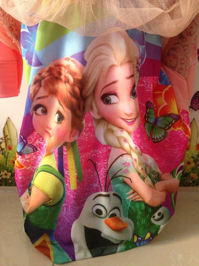 Jual Baju Gamis Syari Baju Lebaran Anak Frozen Jilbab