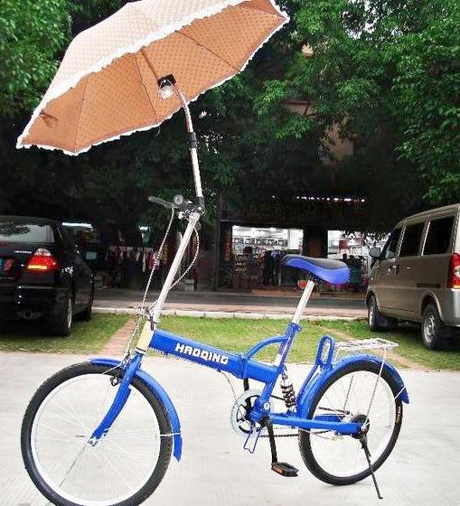 Penyangga payung sepeda / becak / gerobak dorong