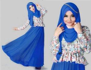 Aulia Biru / baju hijab fashion busana muslim wanita