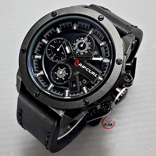 jam tangan pria ripcurl colorado leather model expedition chrono on