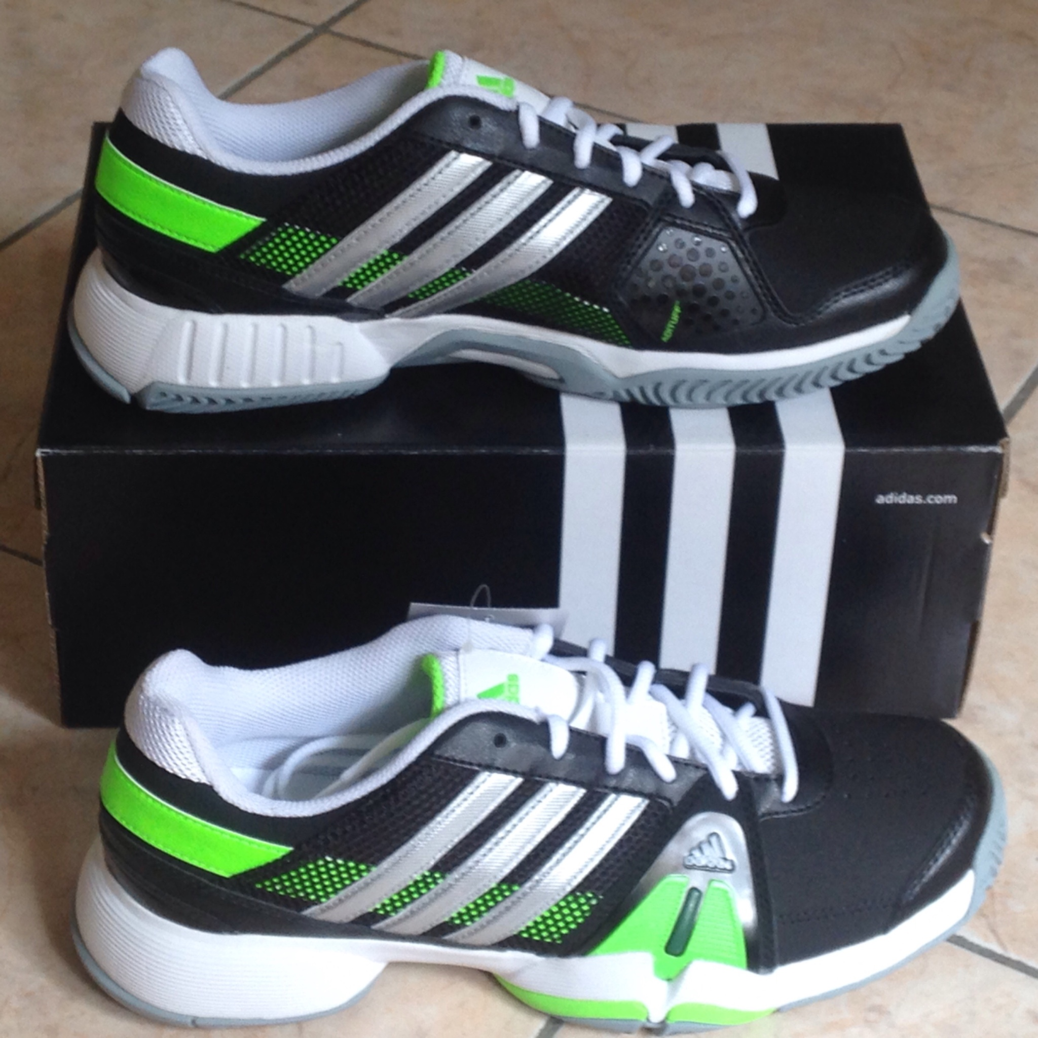 Jual Adidas Barricade Team Hitam 3 sz 39 1 3 Sepatu Tenis Sportsite