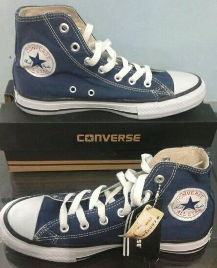 Jual sepatu murah converse dongker high +box - sepatu murah ... 5ed1e43f58