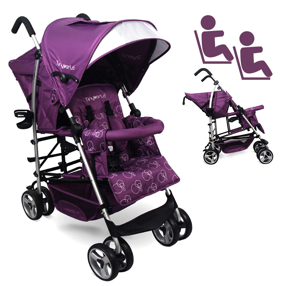 Tandem Twin Double Stroller Kembar Baby Tinyworld PURPLE Ungu TWDUO-PL