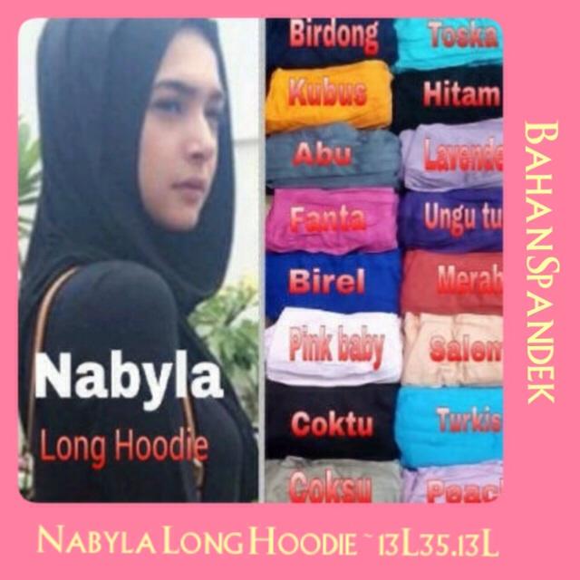 Kerudung Nabila Long hoodie / hijab instan/ jilbab