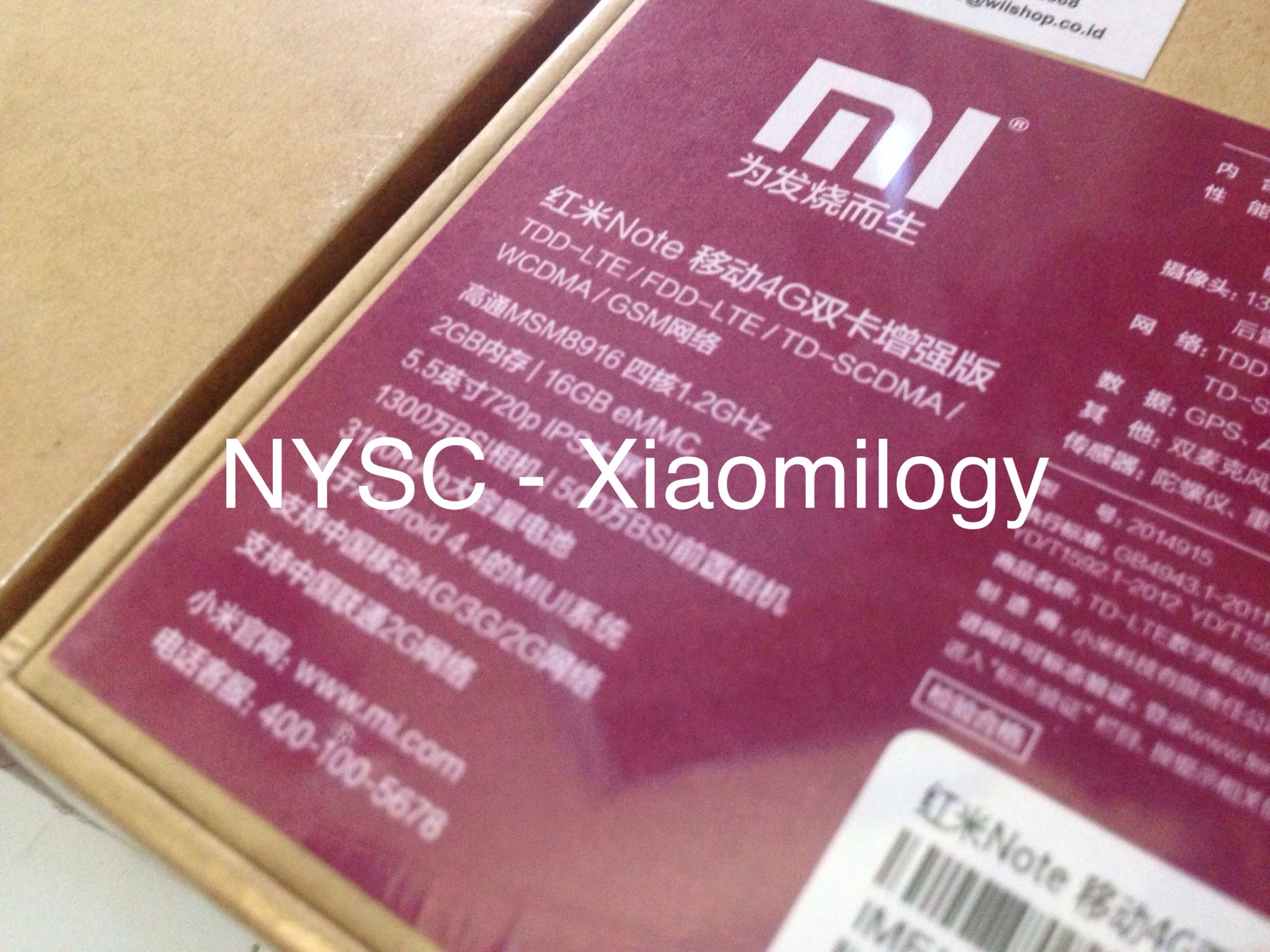 Xiaomi Redmi Note LTE 4G Enhanced (Ram 2GB/Internal 16GB/Dual Sim)