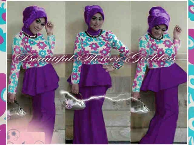 Blouse rok hijab spandek hyget nagita hijab (ungu) M