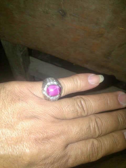 batu cincin ruby star 6 super