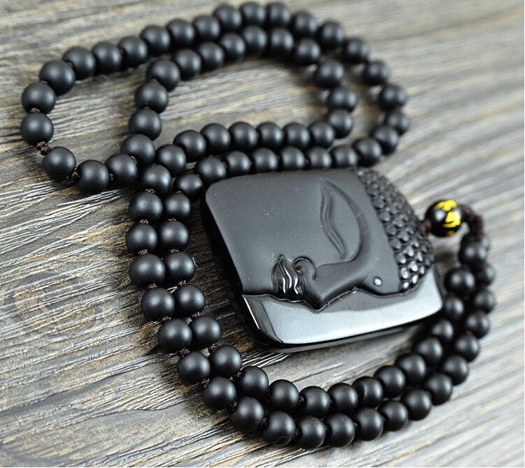 Jual Kalung Hiasan Buddhis Buddha Batu Akik Bacan