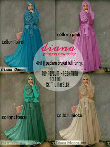 DIANA PRINCESS COLOUR SALE STELAN HIJAB PESTA BRUKAT