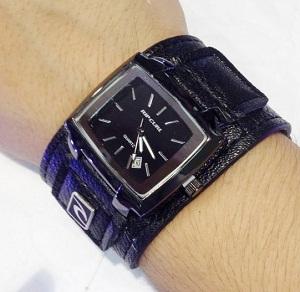 Jam Tangan Ripcurl Kulit Watch Hitam List Hitam