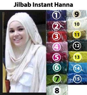 Jilbab/Bergo/Kerudung/Hijab Instant Hanna CHSI