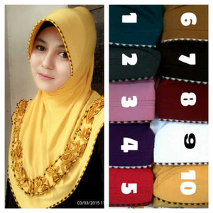 Hijab / Jilbab Jilbab Bergo Gotic Sulam
