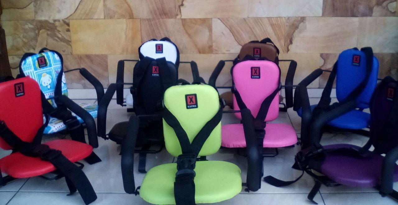 Kursi bonceng anak untuk motor matik & bebek warna polos