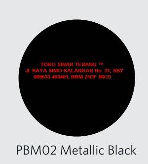 Jual PYLOX Basic Warna HITAM METALIK METALIC BLACK PBM02