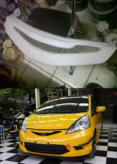 Grill Honda Jazz S & RS 08-11 JS Racing Grille