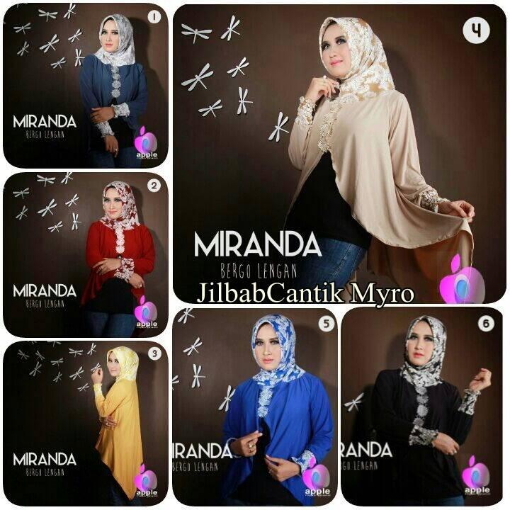 jilbab bergo lengan premium miranda original by apple hijab brand