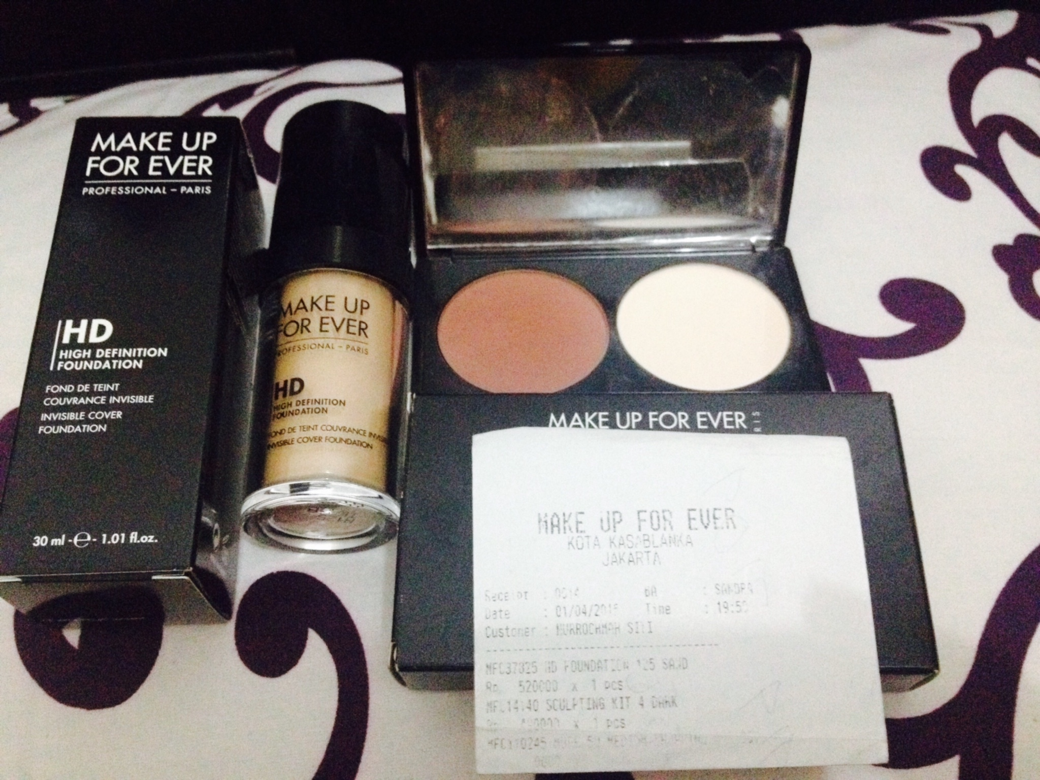 Makeup forever hd foundation samples