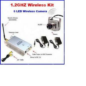 Jual KAMERA CCTV MINI WIRELLES PINHOLE 12 GHZ