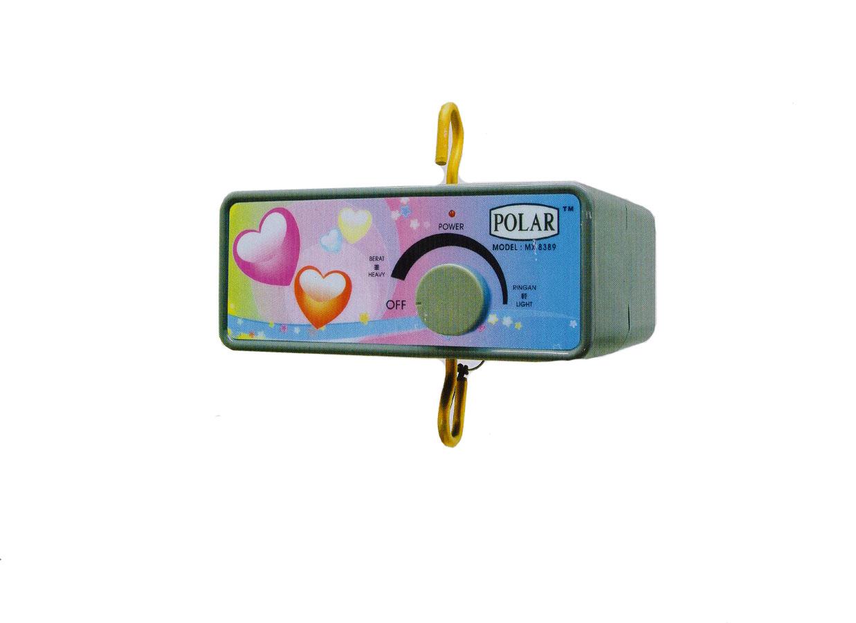 Polar MX8389 Buaian Bayi Elektronik/ Mesin Ayunan Musik Untuk Bayi