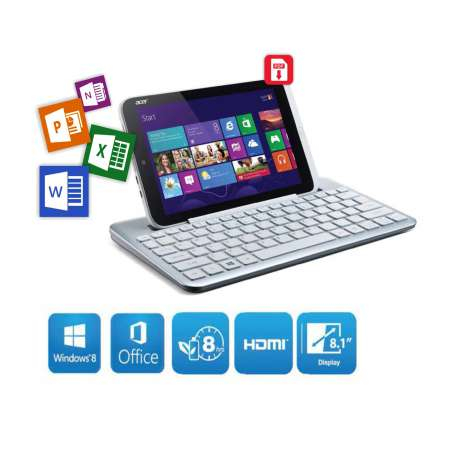 harga Acer Iconia W3 - 810 Windows 8 + FREE Keyboard Bluetooth Acer Tokopedia.com
