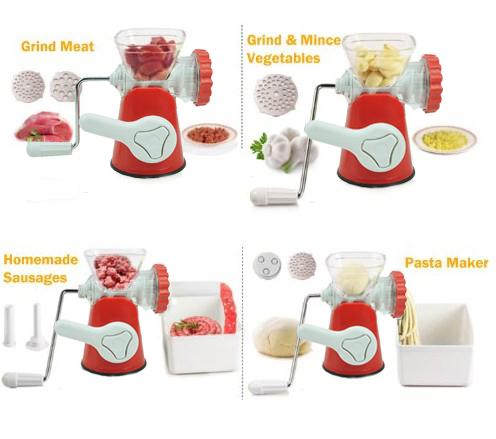 Meat Grinder manual penggiling giling daging sayuran buah mincer