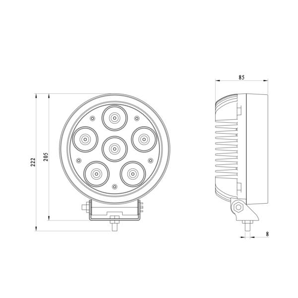 Jual LED Bar 60 Watt LW RD60W CREE Lampu Sorot