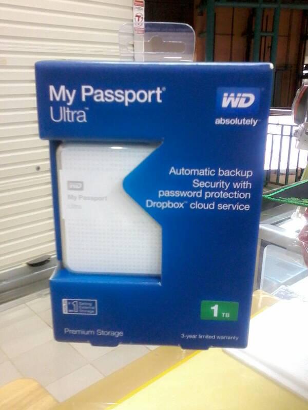 Jual Hardisk Eksternal WD My Password Ultra 1TB USB 30