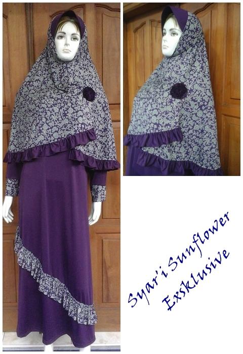 Jual Gamis Syar 39 I Sunflower Eksklusif Model Baju Gamis