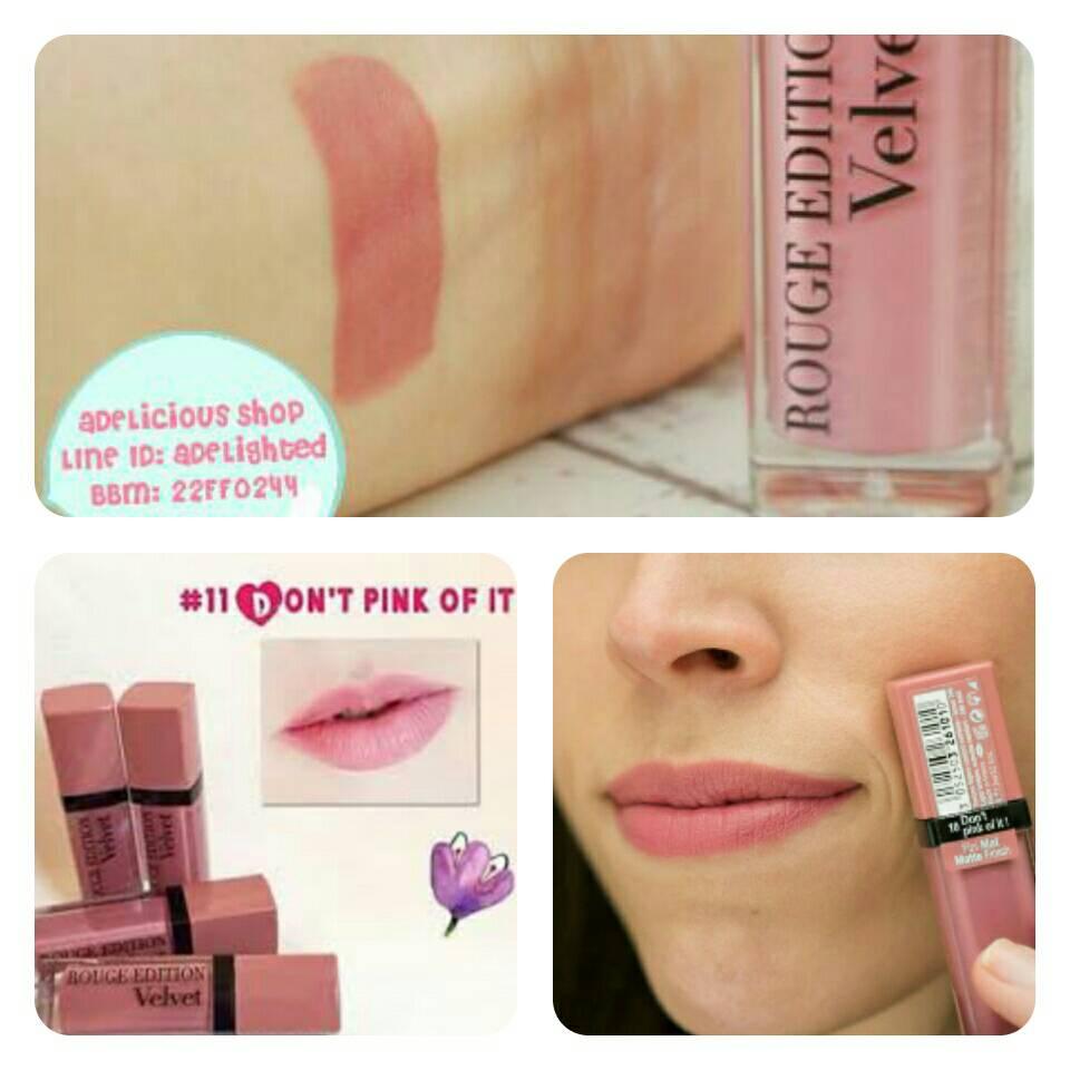 harga Bourjois Don't Pink of It - Rouge Edition Velvet - #10 Dont Pink of it Tokopedia.com
