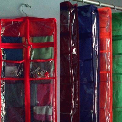 HIJAB ORGANIZER JUMBO / WadahJilbab Jumbo Dilengkapi 6 Kantong Penting