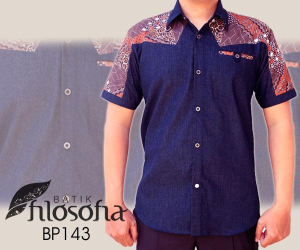 Jual Baju Batik Modern Pria Bp143 Batik Filosofia