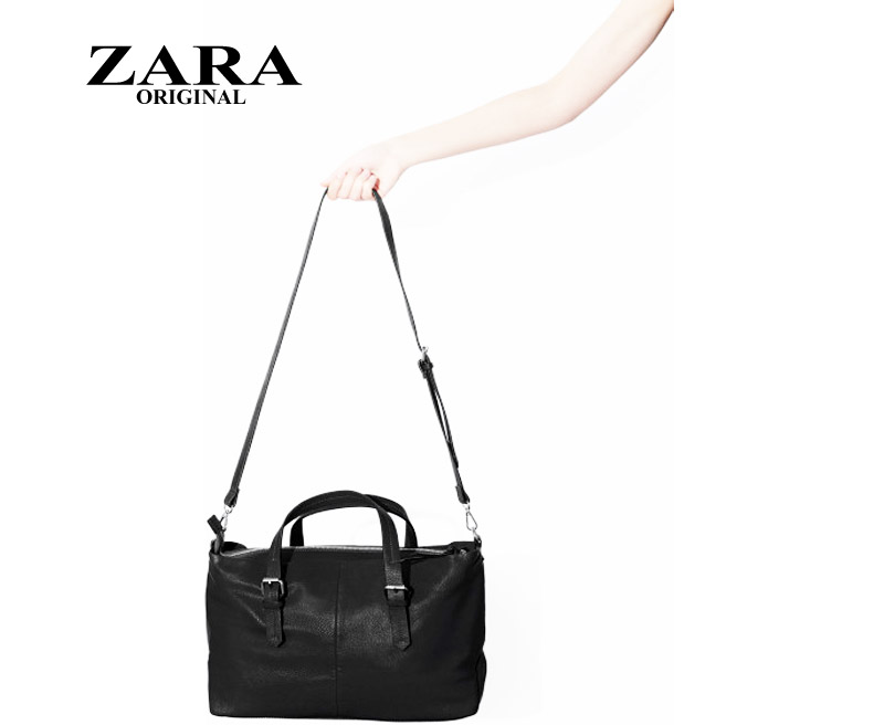 Zara Shopper Bag Black Zara Black Trf Shopper Bag