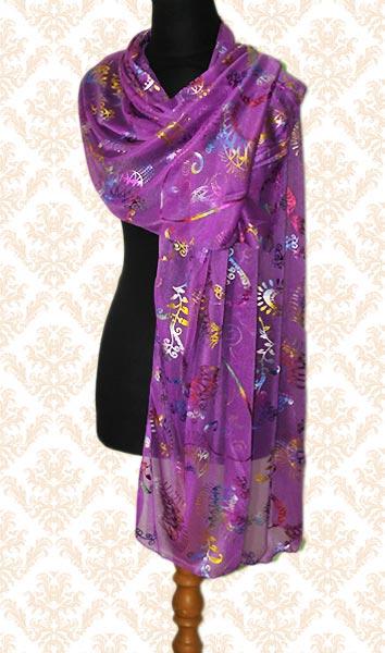 harga Pashmina Brokat Motif Cantik Tokopedia.com