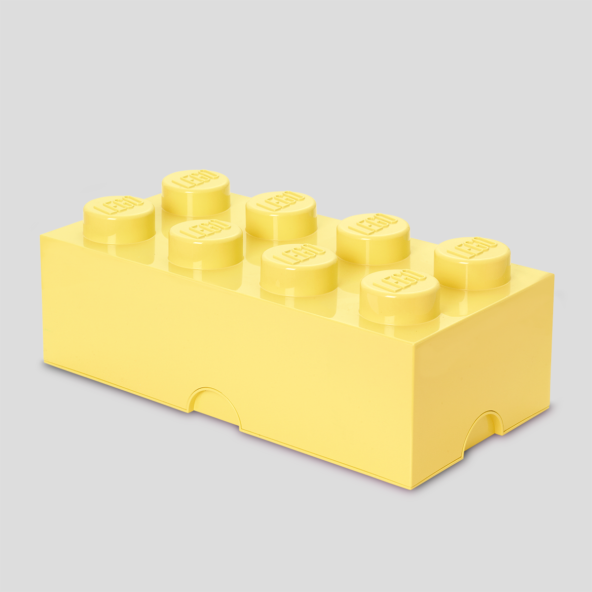 LEGO # 4004 BRICK STORAGE 8 KNOBS - COOL YELLOW