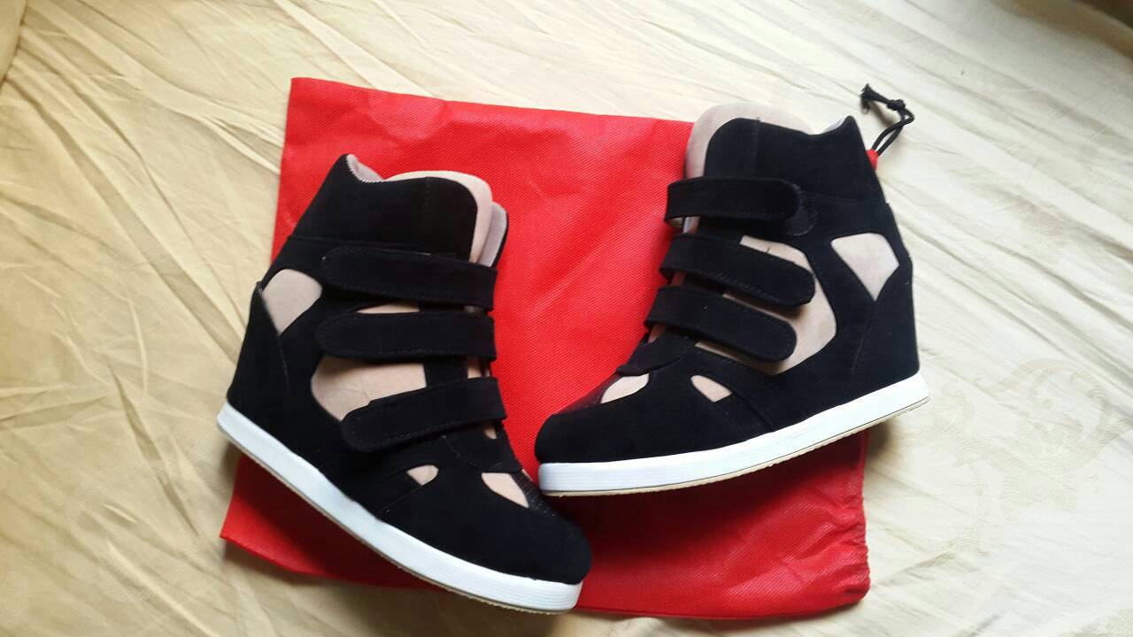 Jual sepatu wanita sneaker wedges - WH edelwais  b44613879e