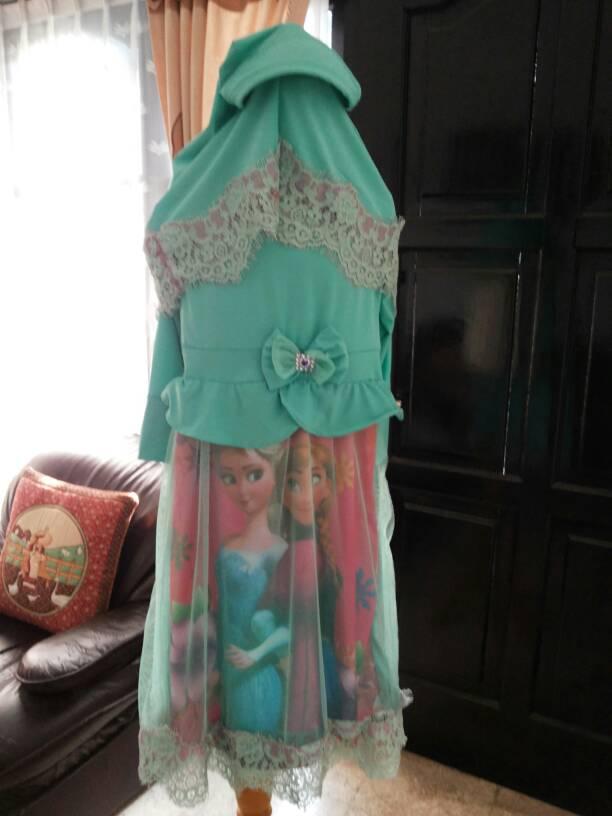 Jual Baju Muslim Anak Frozen New Style For 2016 2017