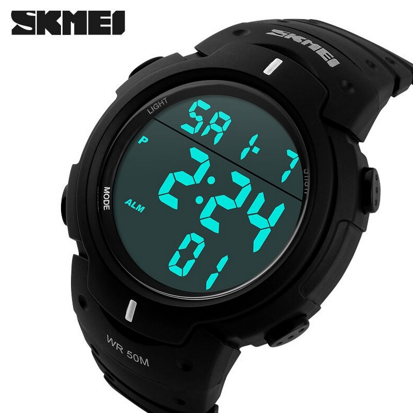 SKMEI Pioneer Sport Watch Water Resistant 50m - DG1068 - Black
