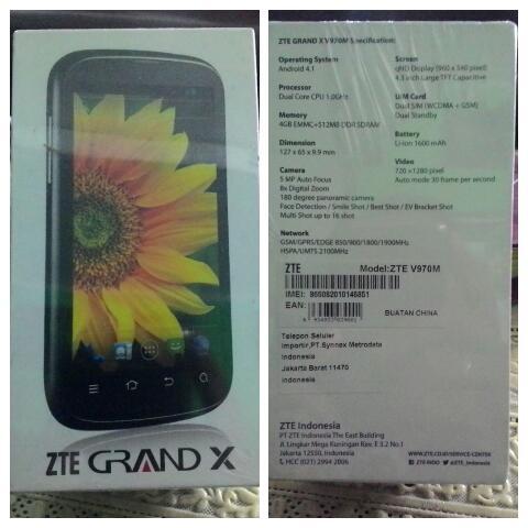 [PROMO] - ZTE Grand X V970M Android Smartphone - Dual Core - Layar 4,3