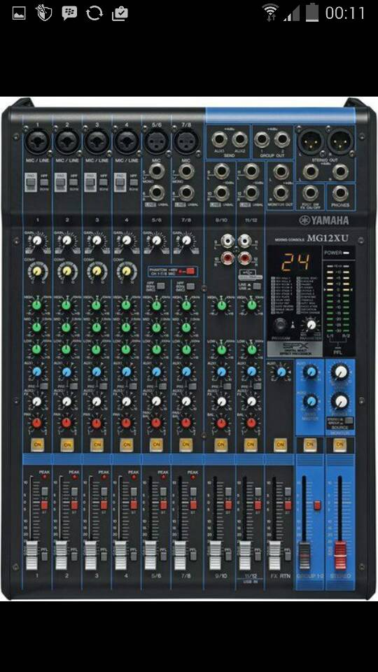 Mixer Yamaha Mg 12xu ( 12 channel )